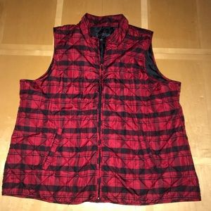 Relativity Black & Red Quilted Vest